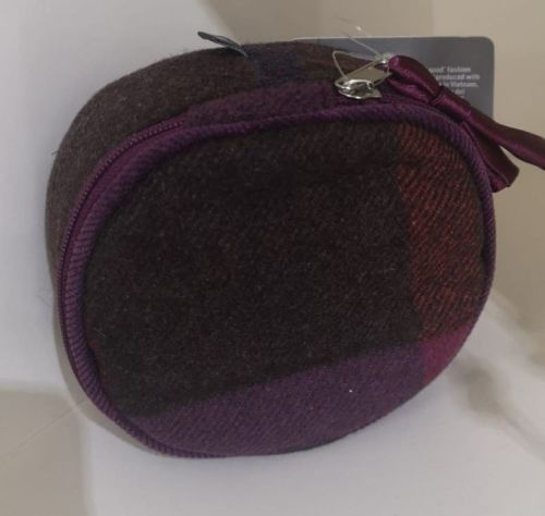 Mulberry Tweed jewellery pouch