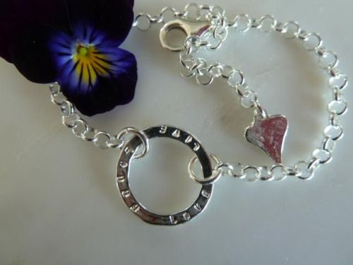 Silver Mother and Daughter bracelet