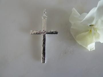 silver cross charm (chain sold separately)