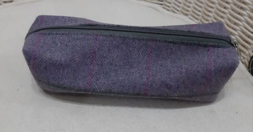 Tweed Pencil case in Iris