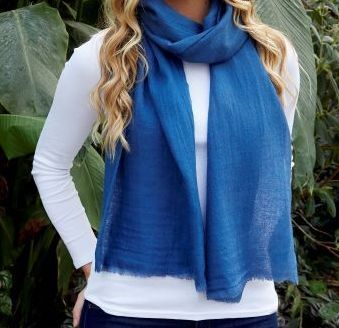Luxury silk and wool Fairtrade scarf