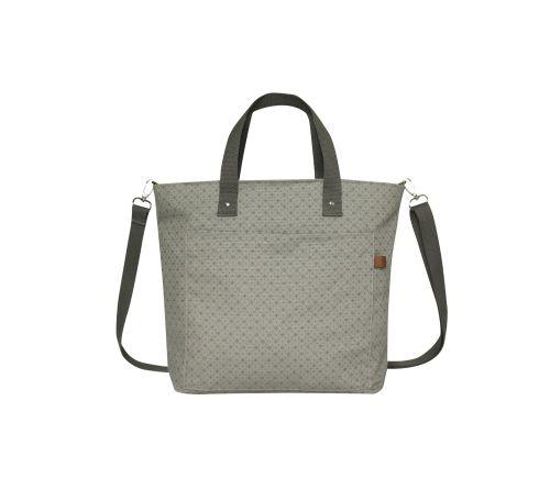 Canvas Floral Tote bag in Grey