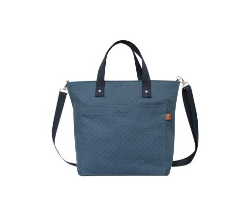 Canvas Floral Tote bag in Blue