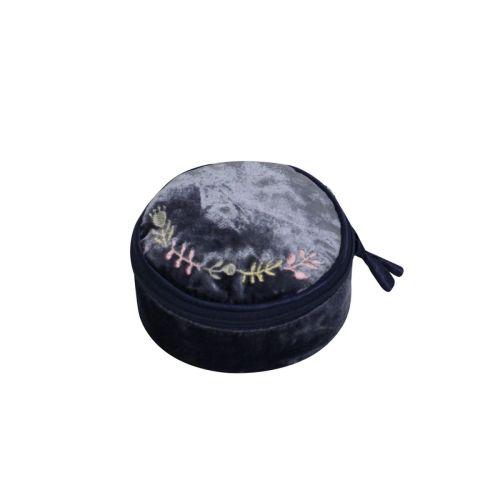 Velvet Navy jewellery pouch