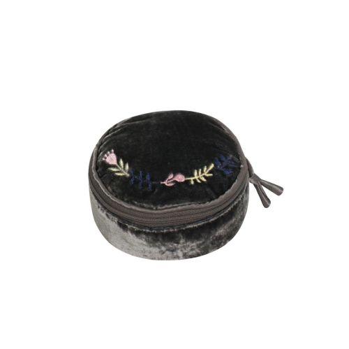 Velvet Grey jewellery pouch