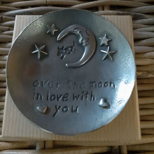 In love with you -Pewter trinket dish