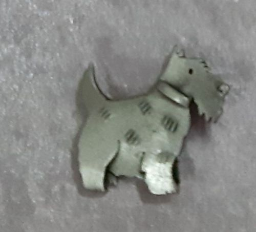 Scruffy Terrier style pewter Brooch