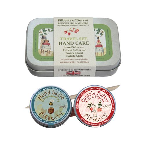 Filberts of Dorset Bees wax travel hand care tin