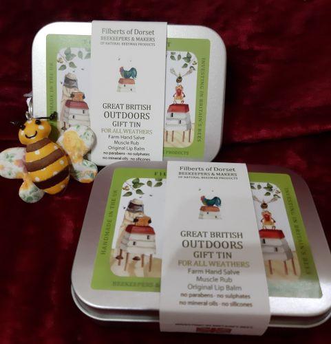 Filberts of Dorset Bees wax Gardeners Gift tin
