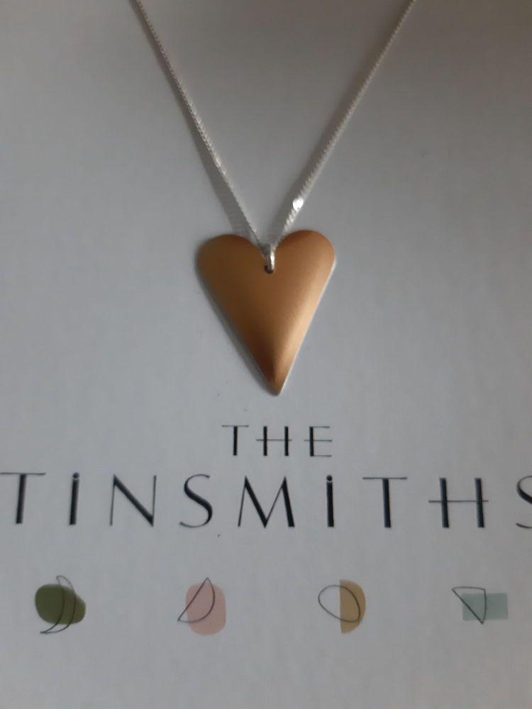 Recycled aluminium med heart necklace