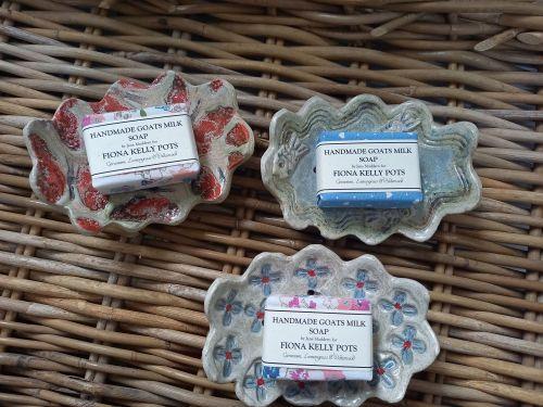 Fiona Kelly wavy edged soap dishes - Made in Dorset