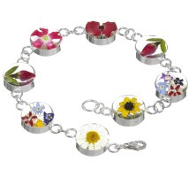 Mixed flower large bracelet