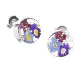 Mixed flower stud earrings