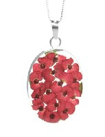 Poppy large oval pendant