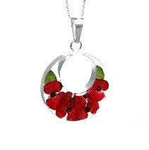 Poppy circle pendant