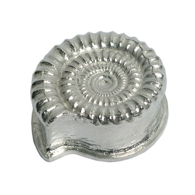 Pewter ammonite keepsake box