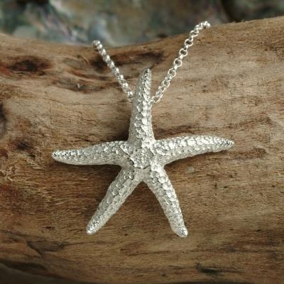 Pewter starfish pendant