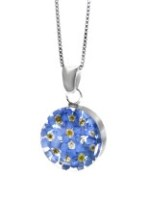 Forget me not round pendant