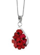 Poppy pendant, medium teardrop