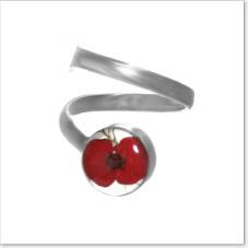 Real poppy ring