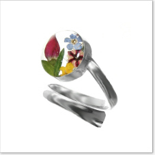 NEW Mixed real flower ring