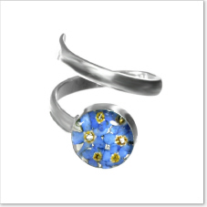 NEW - Forget me not flower ring