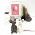 Needle felt mice kit