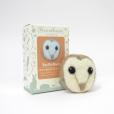 Needle felt owl brooch kit