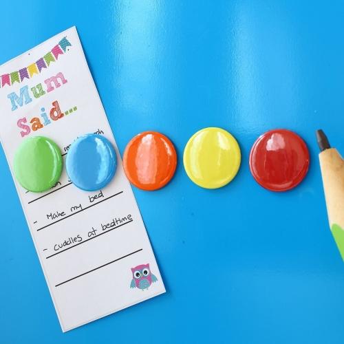 Magnets - 5 Tutti Frutti  gloss magnets