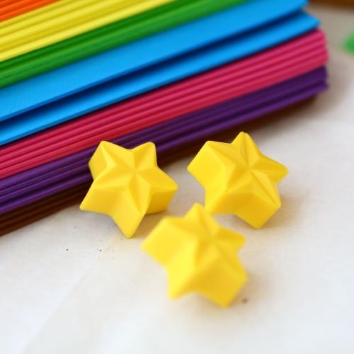 Magnet or Push-pin - 6 yellow stars