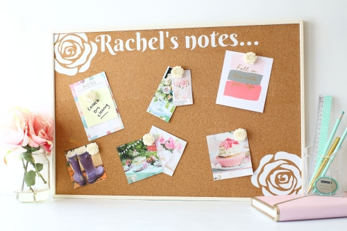 Personalised Cork Board - Roses (C1)