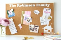 Personalised Cork Board - Family (C2)