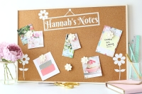 Personalised Cork Board - Daisies (C3)