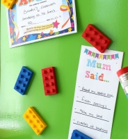 Magnet - 6 Lego Brick inspired