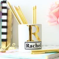 Personalised Ceramic Keepsake - Gold monogram