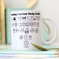 Witty Ceramic Mug - Washing machine study guide