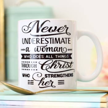 Ceramic Mug - Never underestimate