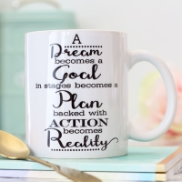 Ceramic Mug - Dream, Goal, Plan, Action, Reality