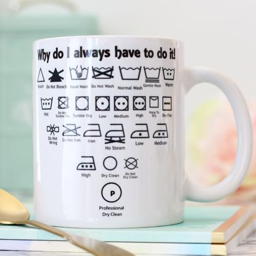 Witty Ceramic Mug - Washing machine study guide