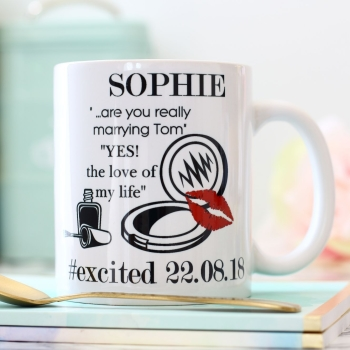 Personalised Ceramic Mug - Engagement gift
