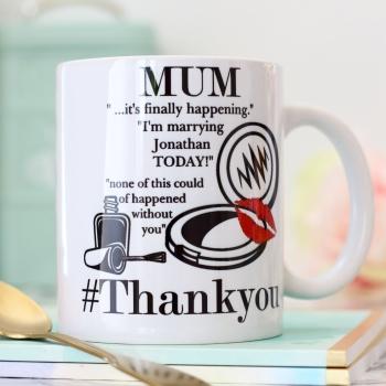 Personalised Ceramic Mug - Mother of the Bride Gift