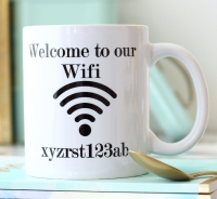 Personalised Ceramic Mug - Wifi Code