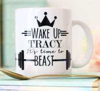 Personalised Ceramic Mug - time to beast