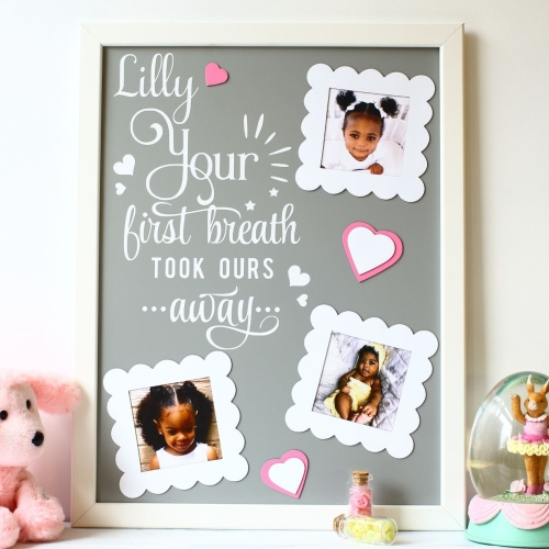 Personalised photo frame - And they lived happily ever...