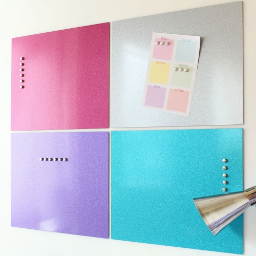 Magnetic noticeboard - Coloured wall panels  P1