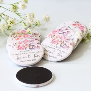 Personalised Wedding favours x 20 mini magnets