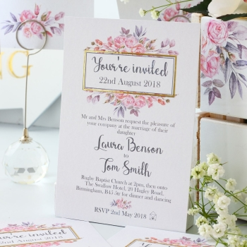 Wedding Invitations x 10