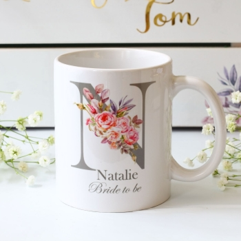 Personalised Bride Monogram Mug
