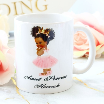 Personalised Ceramic Mug - Princess (5 skin tones available)