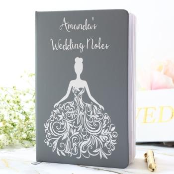 Personalised Notebook - swirl dress